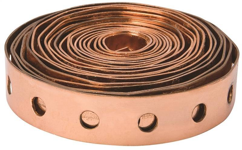 "Copper 24 GA Clad Strapping 3/4"" x 10' Copper Strap Altium Supply Co."