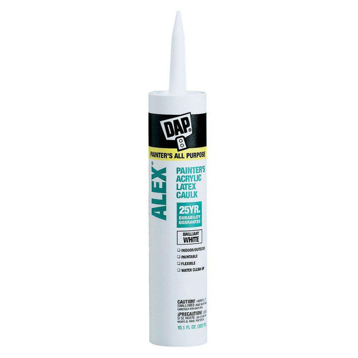 DAP Alex 10.1 oz. White Painter's All-Purpose Acrylic Latex Caulk Caulking & Sealants Pacoa