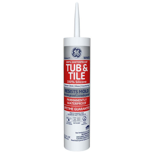 GE Silicone I Tub & Tile Sealant Caulking & Sealants GE