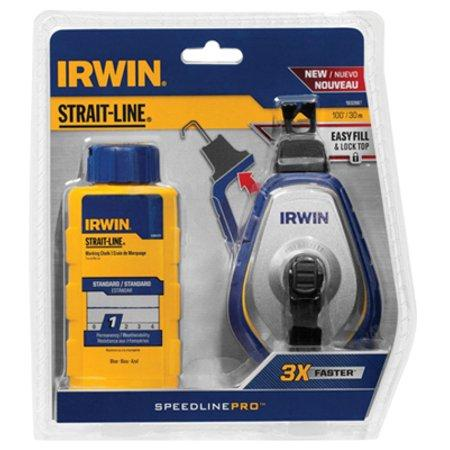 Irwin Speedline Pro Strait-Line Chalk Reel with Blue Chalk Refill Set Accessories Irwin