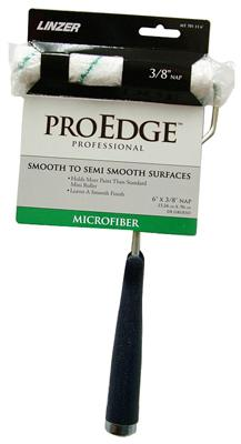 Linzer Pro Edge 3/8 Inch Nap Microfiber Roller And 11 Inch Handle Rollers & Poles Linzer