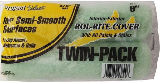 "Linzer Rol-Rite Twin Pack Roller Cover Plastic Semi-Smooth Surfaces 3/8 "" Nap 9 "" Rollers & Poles Linzer"