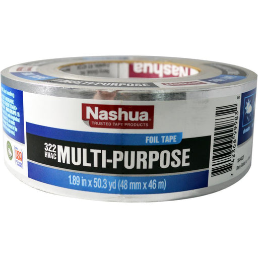 Nashua 322 Multi-Purpose HVAC Aluminum Foil Tape 1.89 in. x 50 yd. Tape Nashua
