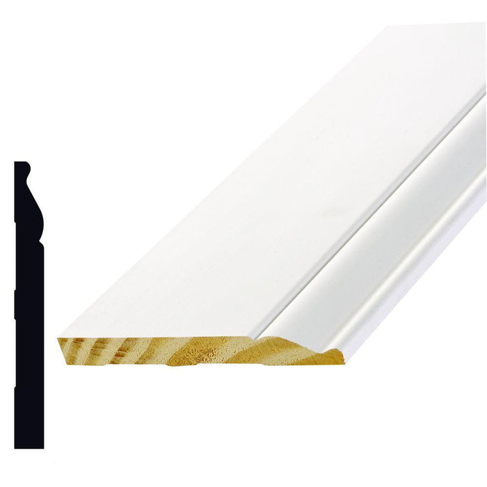 Primed Colonial Baseboard Moulding Alexandria Moulding