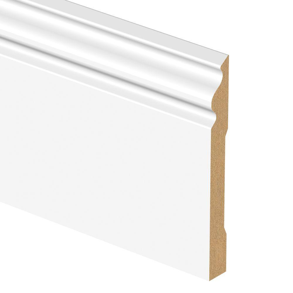 Primed Colonial Baseboard (V) Moulding Home Construction