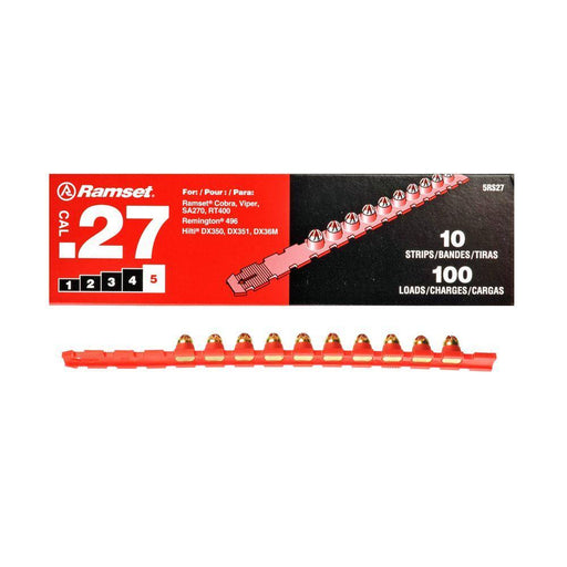 Ramset 0.27 Cal Strips (100-Count) Anchors Ramset Red