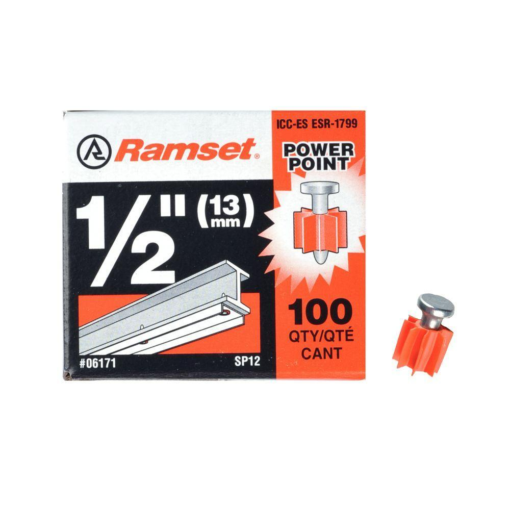 Ramset 1/2 in. PowerPoint Pins (100-Pack) Anchors Ramset
