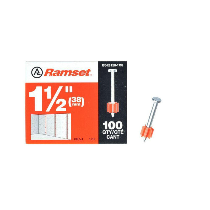 Ramset Drive Pins (100-Pack) Anchors Ramset 1 1/2""
