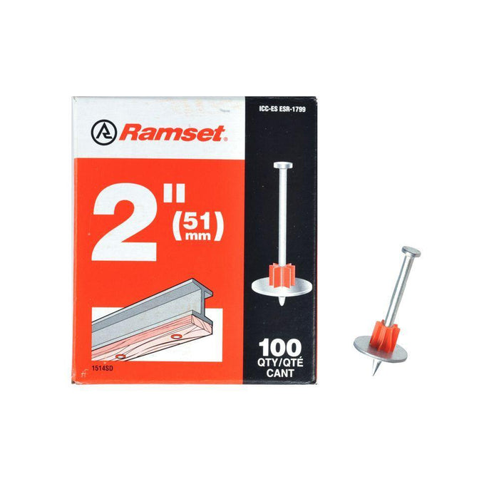 Ramset Drive Pins w/ Washer (100-Pack) Anchors Ramset 2''