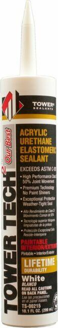 Tower Tech 2 Acrylic Urethane Sealant, White Caulking & Sealants Tower Sealants