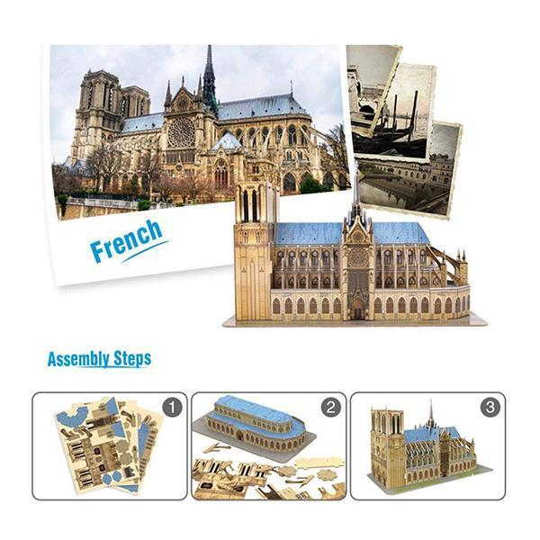 World's Great Architectures Notre Dame de France 3D Puzzle