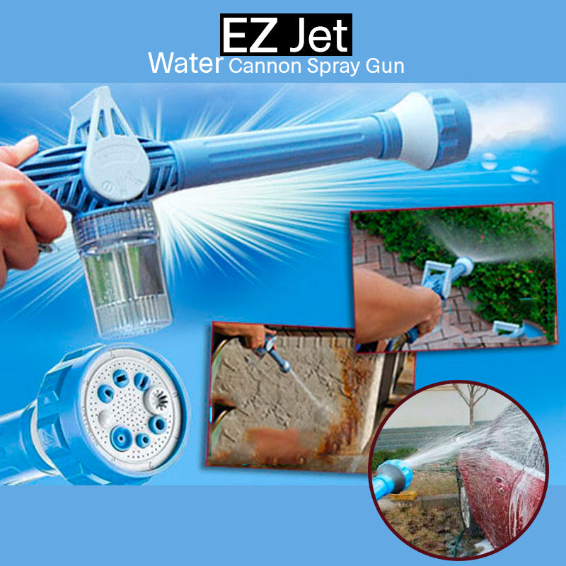 EZ Jet Water 8-Nozzle Multi-Function Spray  w/Built-in Soap Dispenser