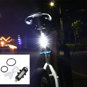 LED Taillight Rear Tail Safety Warning Cycling Portable Light
