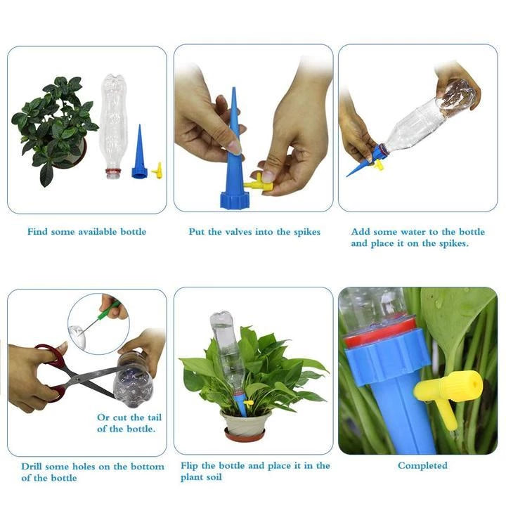 AUTOMATIC DRIP IRRIGATION SYSTEM FOR WATERING PLANTS
