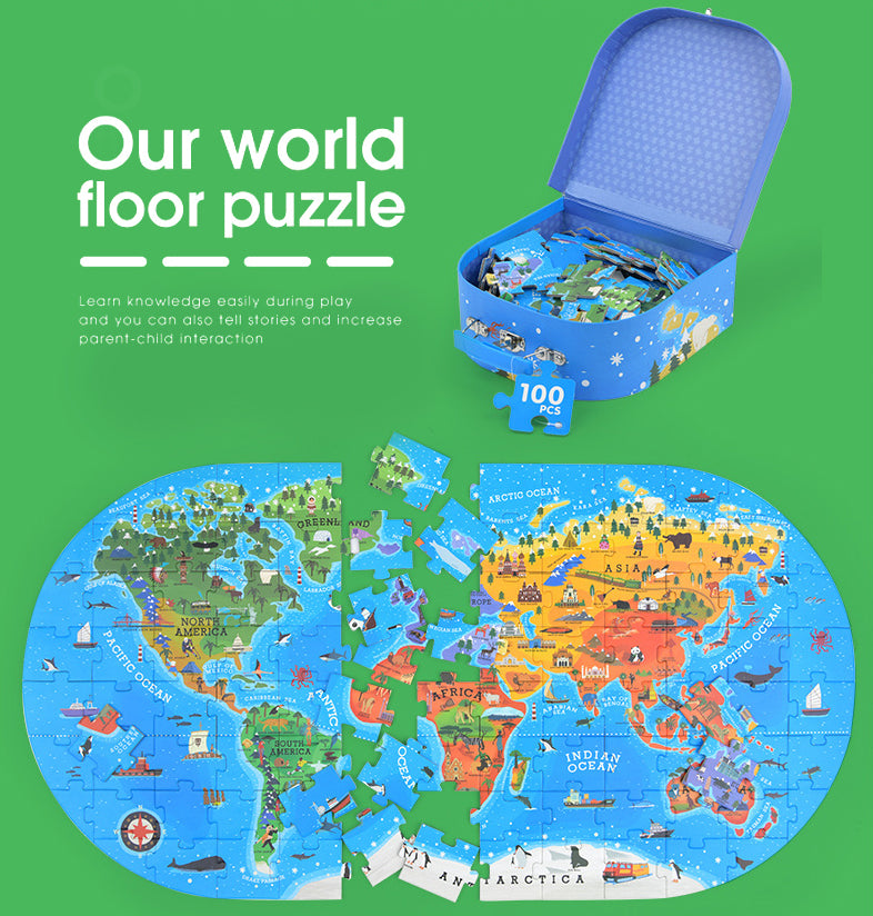 FUN-TOY™ Map Floor Puzzle