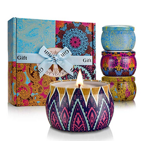Scented Candles Gifts Set for Women Aromatherapy Candles Stress Relief