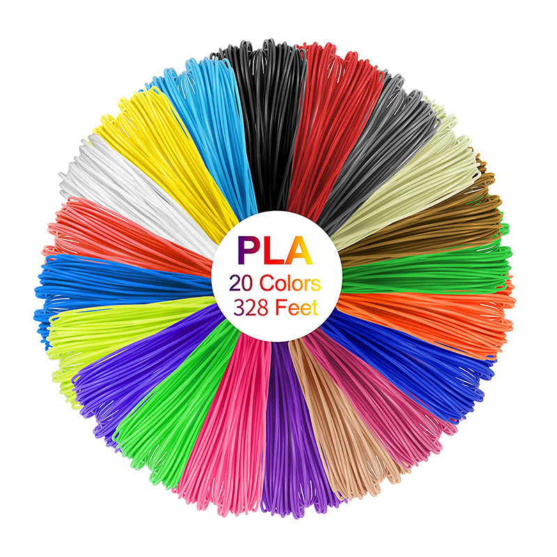 3D Pen with PLA Filament Refills, 3D Printing Drawing Printer Pen for Kids and Adults, Compatible with PLA ABS Filament, 10 Colors 160 Feet PLA Filaments Included