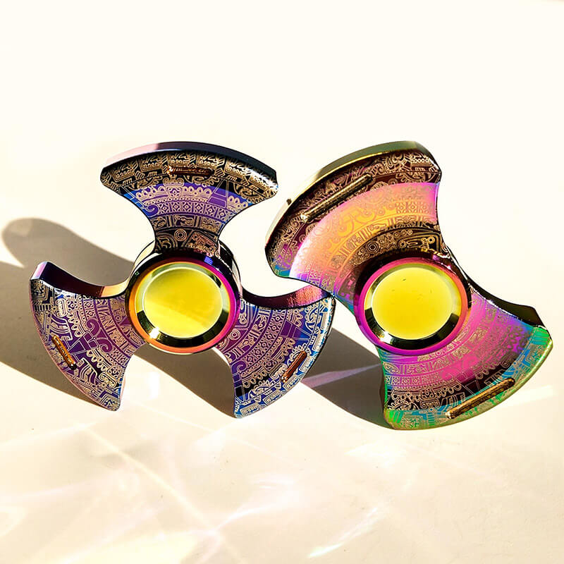 Hand Spinner Metal EDC spinner Maya Mirror Torqbar Pure Steel Rotation Time 5 Minute Handspinner Toy