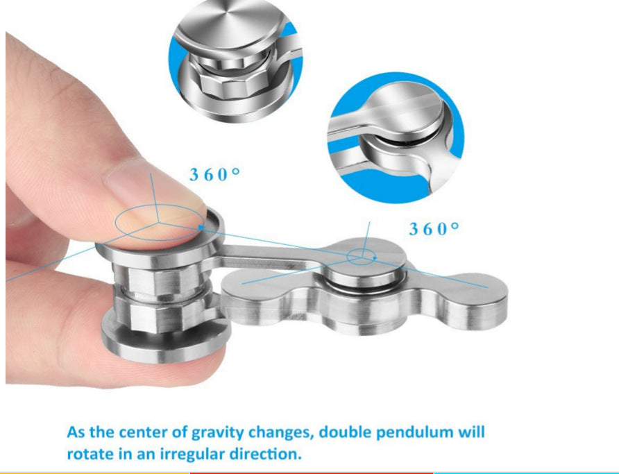 Chaotic Pendulum Hand Spinner 304 Stainless Steel Fidget Spinner Metal Adult Decompression Swing Toys Creative Birthday Gifts