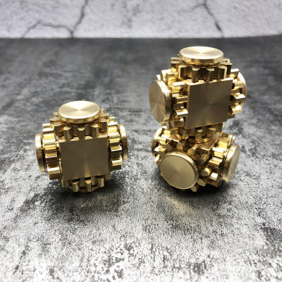Super Mini Four Gear Cube Finger Hand Spinner Help ADD ADHD Sufferers Relieve Stress Anxiety Autism Adults Children Gifts