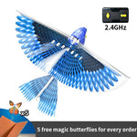 Electric Flying Bird Toys For Children 360 Degree Hover Simulation Bird Bionic Flapping Wing Power Flying Bird Charging Puzzle