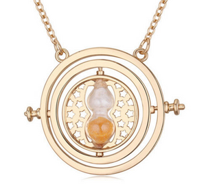 Loft Owl - Harry Potter Rotating Time Turner Hourglass Necklace