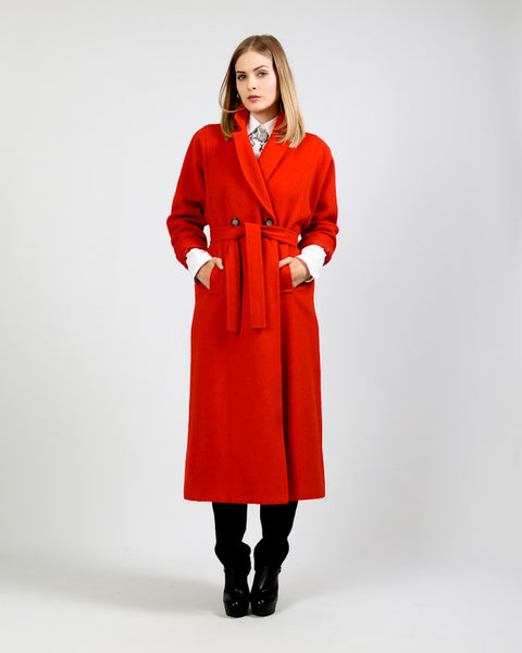 Red Wool / Alpaca Coat