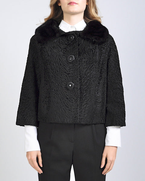 Broadtail + Mink Fur Coat