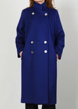 Cobalt Blue Wool Coat