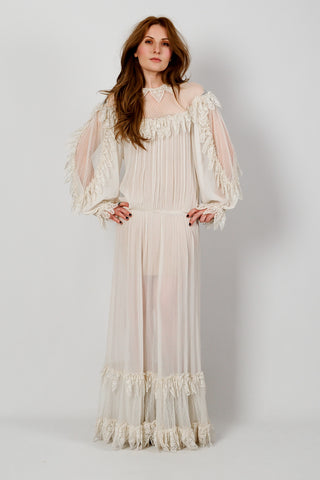 Ivory Lace Poet Maxi Dress