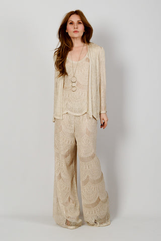 Art Deco Crochet Pant Suit