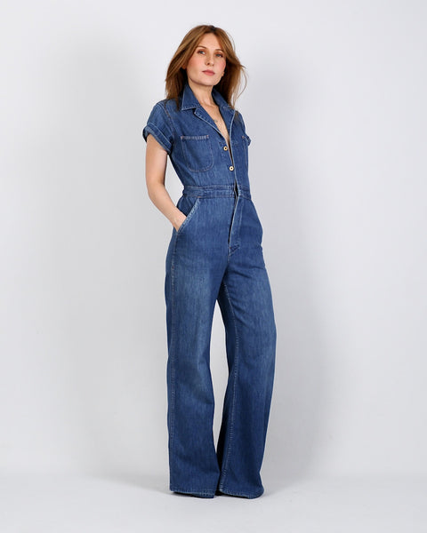 70s Denim Bellbottom Jumpsuit