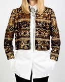 Sequin Encrusted Trophy Jacket