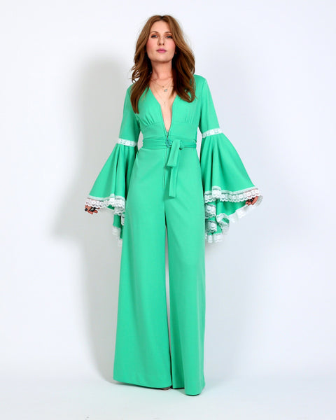 70s Bell Sleeve Palazzo Jumpsuit
