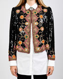 Sequin Encrusted Jeweled Trophy Jacket