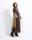 Silk Beaded India 70s Dress