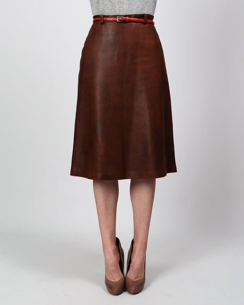 Buttery Soft A-Line Leather Skirt