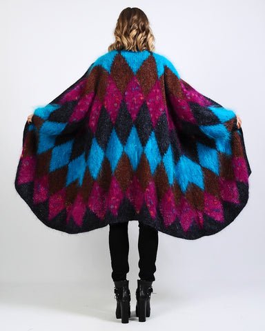 Harlequin Mohair Sweater Coat