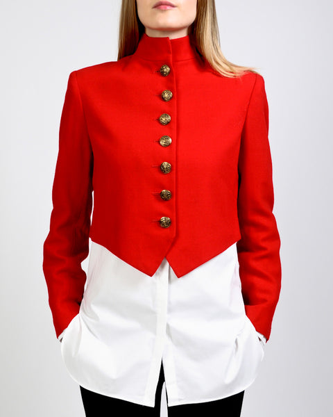 Red Wool Military Jacket