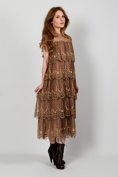 French Silk Lace Gatsby Dress