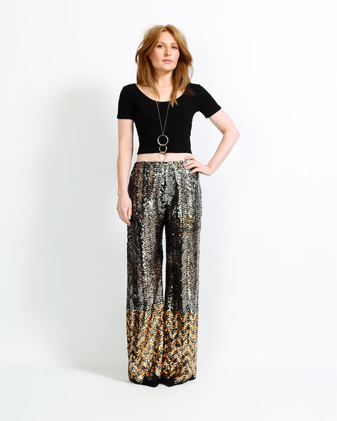 Sequin Wide Leg Pants
