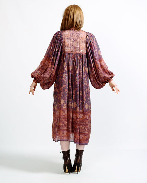 Silk 70s Judith Ann India Dress
