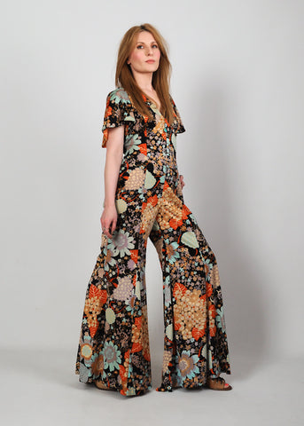 Open Back 70s Palazzo Jumpsuit