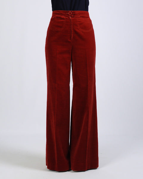 70s Velveteen Bell Bottoms + Jacket