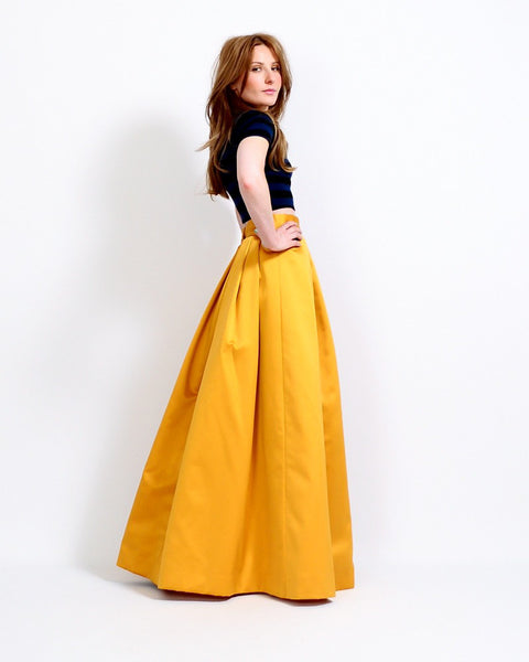 Marigold Satin Ball Gown Skirt