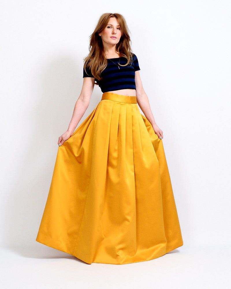 Marigold Satin Ball Gown Skirt – Tin Roof Vintage