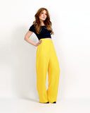 Yellow Wide Leg Trousers