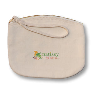 Organic Cotton Carrying Bag, perfect Storage for Reusable Sanitary Pantyliners, Menstrual Towels, Makeup Remover Pads and Washable Nursing Pads; Neatly Stored, always with you and waiting to be reused