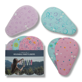 Reusable Panty liners, 7-Pack of Cotton Reusable Sanitary Pantyliners with Wings; MADE IN EU; for Vaginal Discharge and Everyday Cleanliness; Non-irritating, Anti-allergic, Antibacterial; for Daily Usage and in case of White Discharge; Washable Cloth Pads w/o Chemicals; Reusable Liners