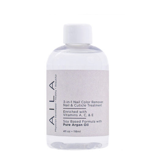 AILA ~ 3 in 1 Nail Colour Remover with pure Argan oil
